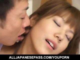Arika Takarano JP babe gets hard fucking and shows off creamed pussy