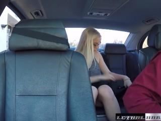 Teen Niki Snow fucks uber driver big cock cumshot