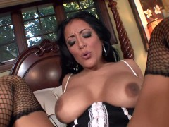 Picture Busty milf Kiara fucked in stockings and hee...