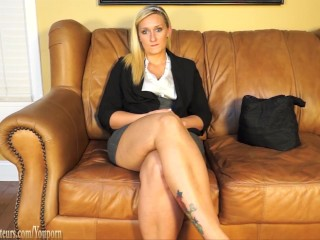 Blonde in casting audition gets the slut treatment