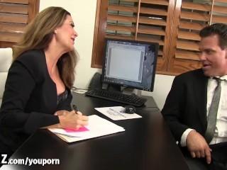 WANKZ - Big Titty MILF Seduces Her New Employee!