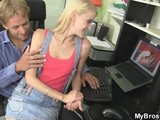 His dirty bitch gets laid with his brother