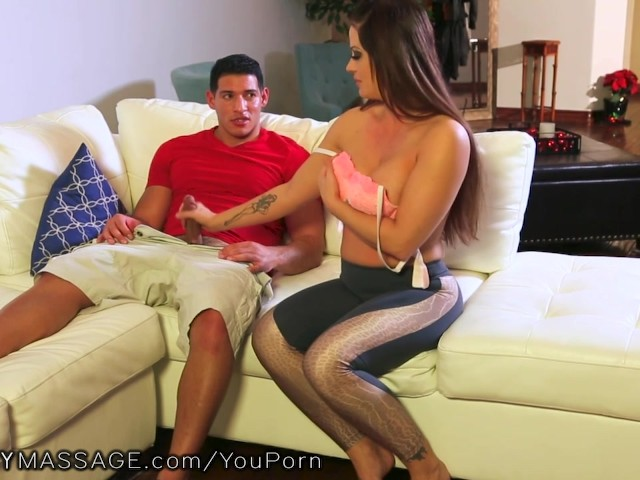 Stepson Gives Mom Massage