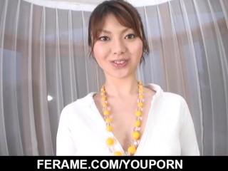 Jun Mise plays with cock deep in her needy mouth
