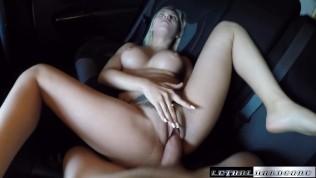 Teen Marsha May fucks her driver facial cumshot