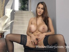 Picture Mischel Lee strips and masturbates on her st...