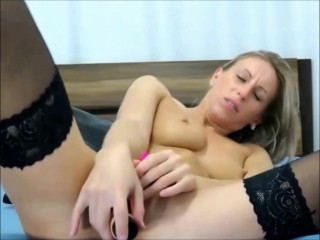 Horny babe has multiple orgasms from a dildo