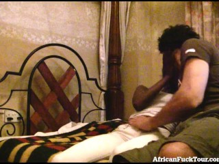 Horny African Girl Gets Fucked Hard By White Tourist!