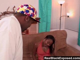 RealBlackExposed - She Spreads Wide For Shorty's Monster Dick