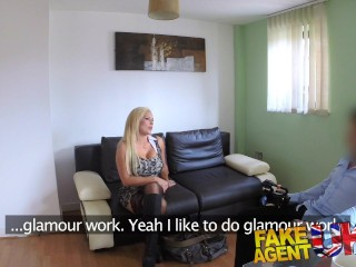 FakeAgentUK Sexy blonde MILF gets a good fucking in hardcore porn interview