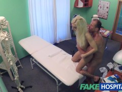 Picture Fake Hospital Tattood Blonde Loves Doctors D...