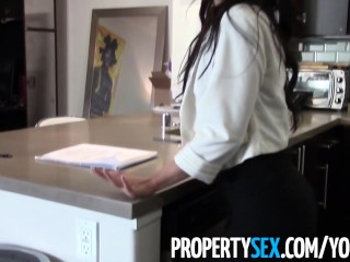 PropertySex - Horny Asian real estate agent fucks client at private showing