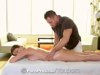 PornPros - Tall Dillion Carter upside down blowjob during massage