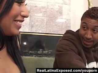 RealLatinaExposed - Jasmine Takes on a Massive Black Cock