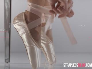 Strapon, Pantyhose, Lesbians, Ballerina, High Heels, Stockings, Garter Belt, Lingerie, Panties, Foot Fetish, Facesitting, Kissing