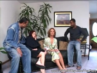 Interracial Group Sex With BBC