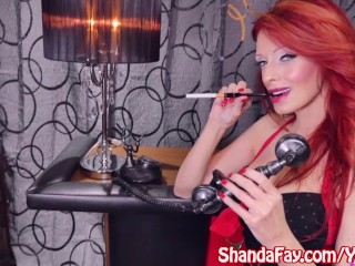 Shanda Fay Gets Fucked by Fuck Machine While on Phone!
