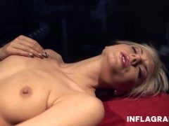 Picture German blonde cums with a machine