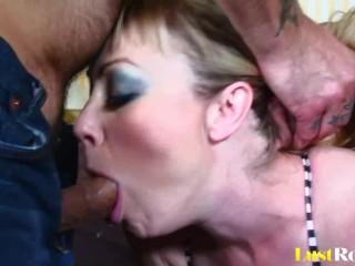 Hardcore deepthroating for the beautiful Adrianna Nicole