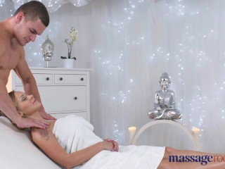 Massage Rooms Young big tits Russian teen takes big dick in her small hole