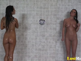 Cute Asa Akira and Devi Emmerson plunge each other