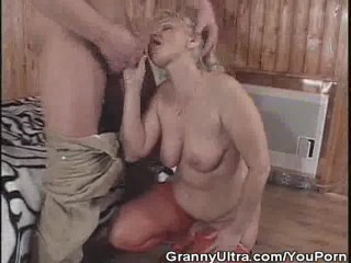 Granny Gets Banged After She Sucked Cock