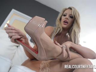 Courtney Taylor Foot Job Cum Shot!