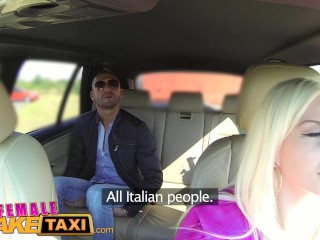 FemaleFakeTaxi Italian tourist fucks sexy busty blonde driver
