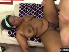 Picture Chubby Luna gets her black pussy reamed