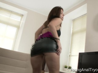That big dick fits perfectly in her tight ass
