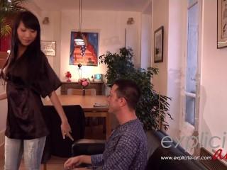 Busty asian Sharon Lee hardcore anal