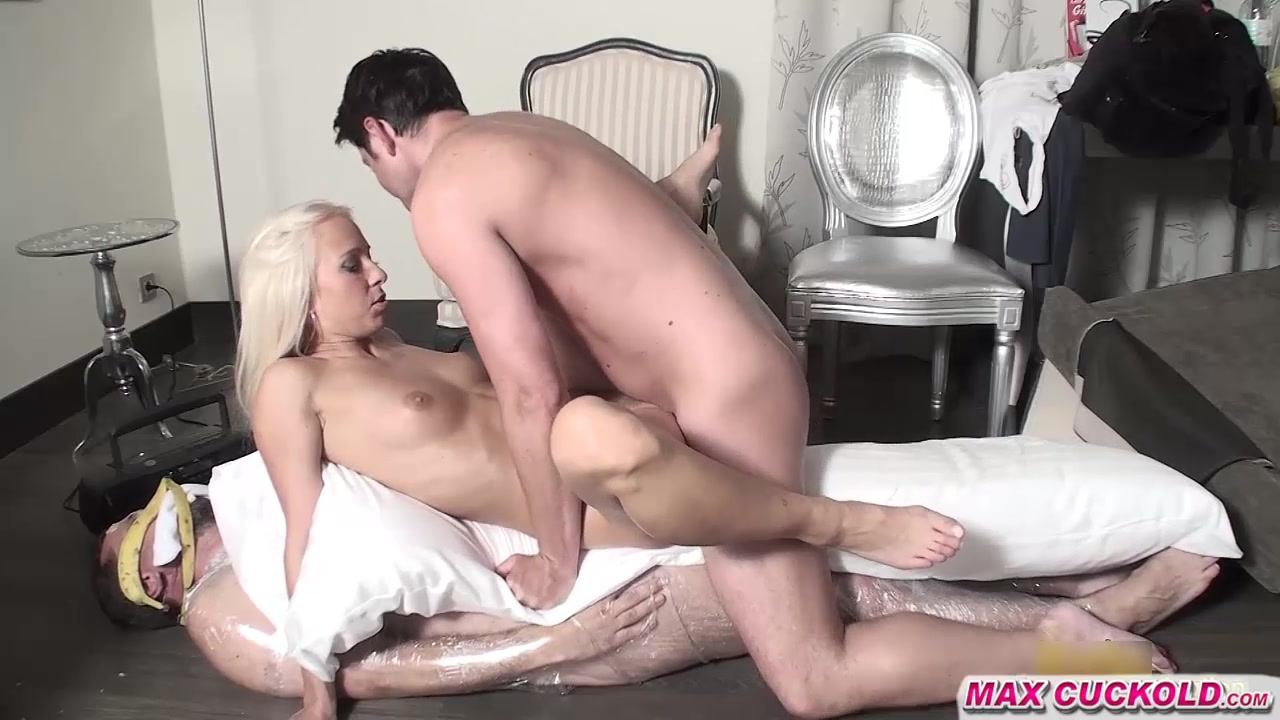Sensual shaved curly maid