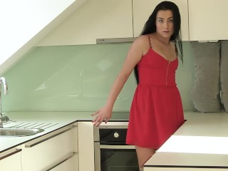 Anna Rose - Open Rose (gaping, pussy stretching, high heels)