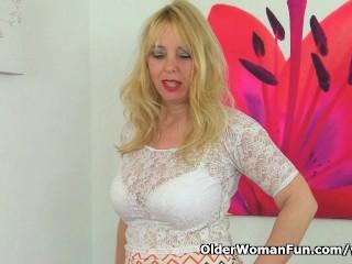 Milf Lucy Gresty is showing off Britain s best mature boobs