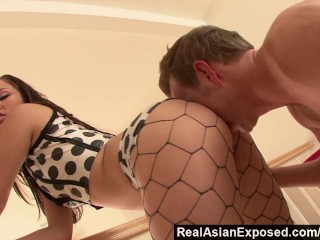 RealAsianExposed - Oriental cock-teaser gets the fucking she deserves