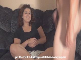 cfnm woman humiliates naked male