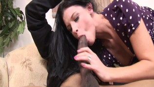 white milf takes the biggest black cock