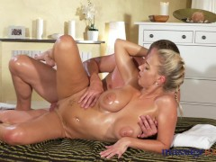 Picture Massage Rooms Horny big boobs blonde sucks a...