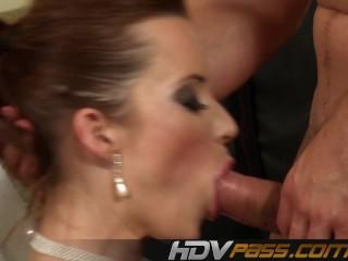 Redhead babe fucks anal for cumshot.mp4