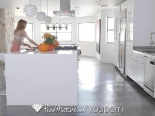 PureMature - House wife Kate Linn fucks her husband s friend