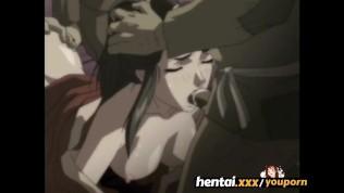 busty hentai redhead gangbanged by gangsters