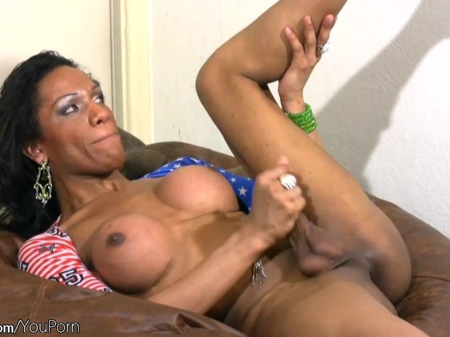 Ebony Fingering Big Tits