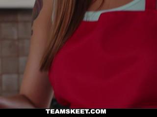 Teamskeet -Pigtail Cutie Gets Pussy Filled Up