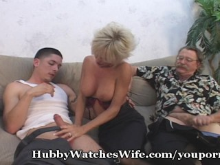 Mature Swinger Shared With Young Cock