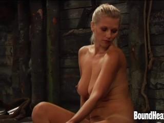 Young Slave Bathing Blonde Lesbian Mistress