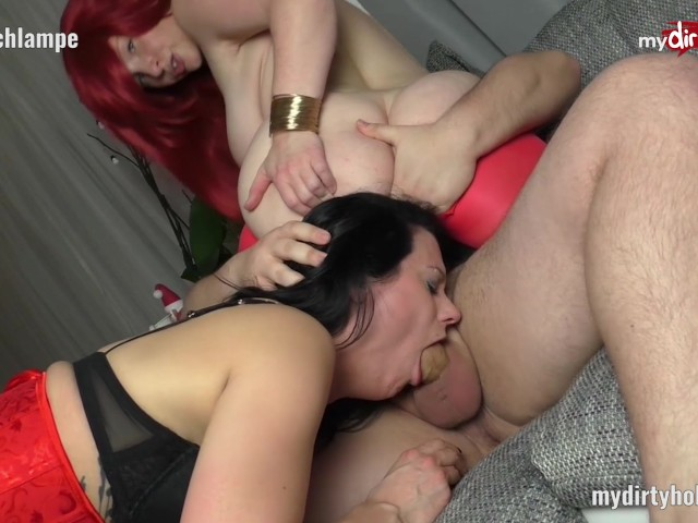riding dildo while blowing