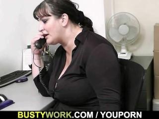 He seduces big boobs bitch into cock riding