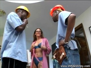 Wild Redhead DP Threesome With BBC Interracial Anal
