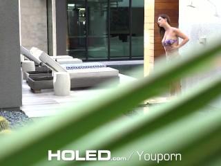 HOLED - Snooping step relative fucks Ashley Adams's asshole