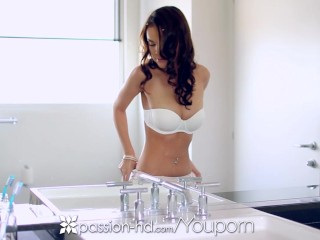 Passion-HD - Dillion Harper fingers her freshly shaved pussy
